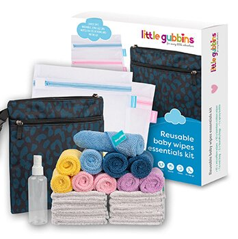 Reusable Baby Wipes Essentials Kit Contents